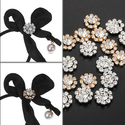 Decorative Plating Rhinestone Apparel Sewing Snowflake Flower Buttons Buckle