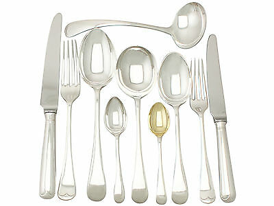 Antique Sterling Silver Canteen of Cutlery for Six Persons - George V