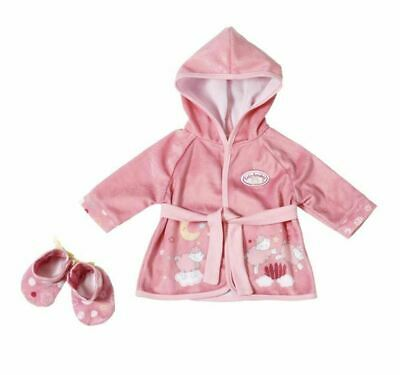 Baby Annabell Sweet Dreams Robe & Shoes Dressing Gown To Fit 43 Cms Dolls New
