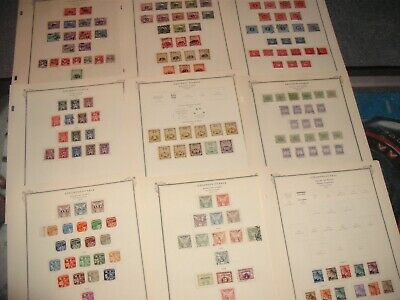 Czechoslovakia Stamps large older stamp collection lot mounted on album pages
