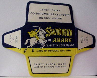 Vintage SWORD OF ARABY  DE Safety Razor Blade
