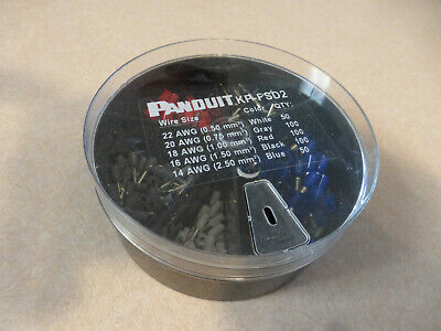 Panduit Kp-Fsd2 Ferrule Assort Kit,400 Pieces #22-14 Awg Wire Terminal Connector