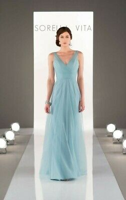 Sorella Vita bridesmaid dress style 8702 Evening Mist size 18