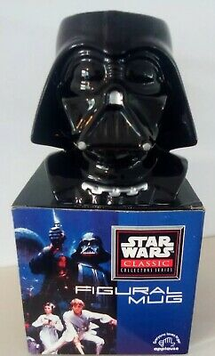 Vintage 1997 First Edition Star Wars Classic Collectors Darth Vader Figural Mug