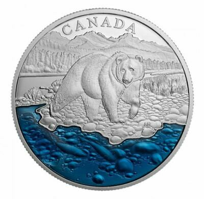 Canada 2017 $20 Fine Silver Coin Iconic Canada: The Grizzly Bear Tax Exempt