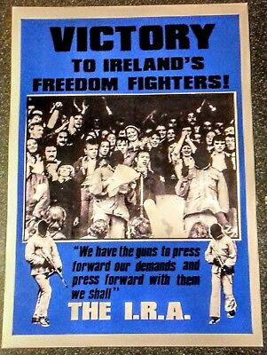 Irish Republican Poster Victory To Irelands Freedom Fighters Sinn Fein Long Kesh