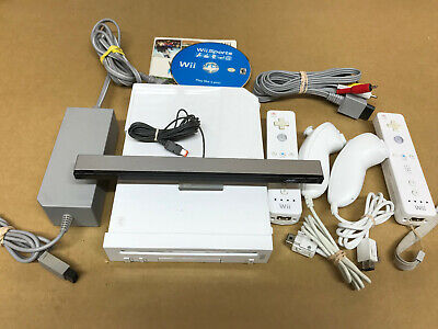 Nintendo Wii Launch Edition White Console RVL-001 Bundle GameCube Compatible