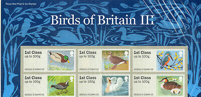 Gb 2011 Post And Go Pack Birds Of Britain 111 Ms Below Face