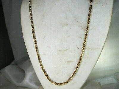 """14k Yellow Gold 585 Bold Rope Chain 20"""" Fine Necklace"""