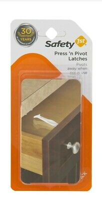 Safety First Easy To Grip Press'n Pivot Latches White 4 pack