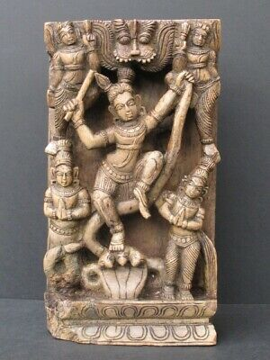 Antique Figural Wooden Carved India
