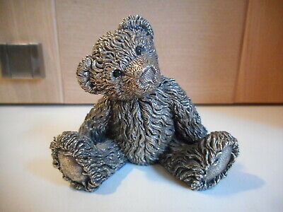 Country Artists Hallmarked Filled Sterling Silver Teddy Bear figurine 1994