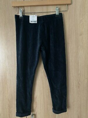 BNWT Next girls Navy Blue Stretchy Ribbed Jeggings leggings age 8 Yrs 7-8 School