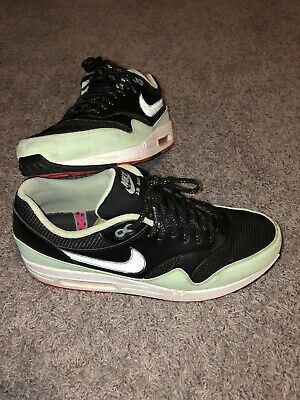 NIKE AIR MAX 1 Fb Size 12 Yeezy Black Fresh Mint Pink Flash