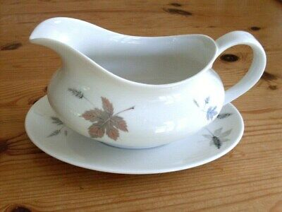 "Gravy Boat & Stand. ""Royal Doulton"" Elegant Shape, Perfect Condition"