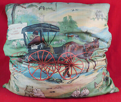 Victorian Campbell Metzger & Jacobson The World Loves A Lover Lithograph Pillow