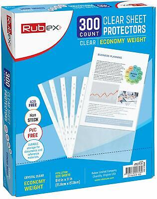 Sheet Protectors, Holds 8.5 x 11 inch Sheets, 9.25 x 11.25 inch Top Loading, Cle