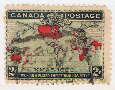 Canada #86(2) 1898 2 cent IMPERIAL PENNY WORLD'S 1st CHRISTMAS STAMP CV$6.00