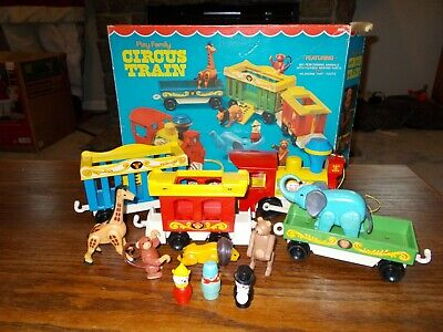 Vintage Fisher Price Little People Circus Train-100% With Box-Very Nice!