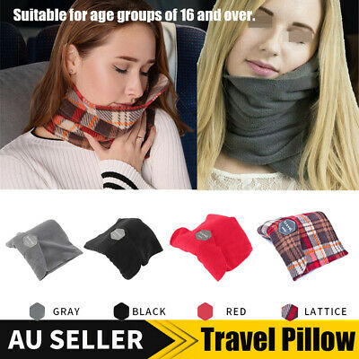 Portable Comfortable Travel Pillow Proven Neck Support Sitting Nap Gift 5 Color