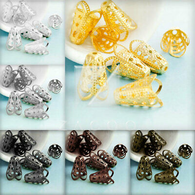 20g DIY Crimp End Spacer Perles Bouchons Charm Bijoux Findings Caps 17x12mm
