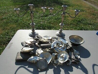 Large Mixed Lot Of Sterling Silver, Scrap,  Over 2.5 Pounds
