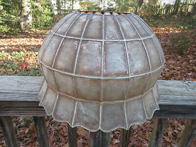 """Vintage Mid Century Modern MICA Lamp Shade  17 1/2"""" x 10"""" with a 7"""" opening"""