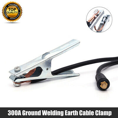 Earth Clamp Cable Welding Ground Grip Lead 300A Arc Mig Tig 10-25 Dinse 1.5M