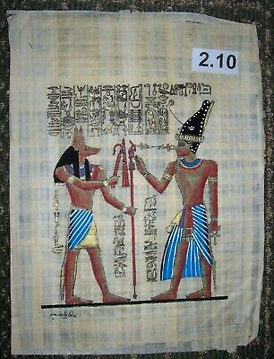 Egyptian Papyrus*God Anubis and Ramses II*30x40 cm*Additional-$8.00*ep.A-2.10