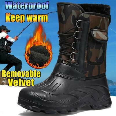 Mens Snow Winter Grip Mucker Wellington Boots Shoes Warmer Thermal Fur Lined