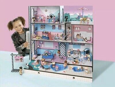 LOL Surprise Doll House, 85+ Surprises Wood Multi Level Home Toy Sets, Gift