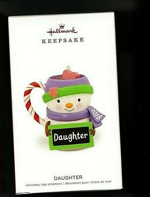 Daughter Coffee Mug 2018 Hallmark Keepsake Ornament