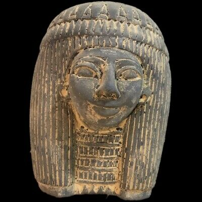 EGYPTIAN BUST STATUE, LATE PERIOD 664 - 332 BC (1) Large Over 15.5 Cm
