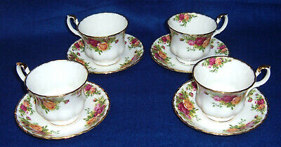 4 Royal Albert Old Country Roses Cup and Saucer England Tea Cups Saucers