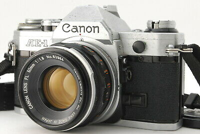 【EXC++++】 Canon AE-1 35mm SLR Camera w/FL 50mm F/1.8 + Strap From Japan