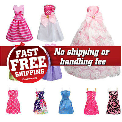 SOTOGO 85 Pcs Doll Clothes Set for Barbie Dolls Include 10 Pack Clothes Party