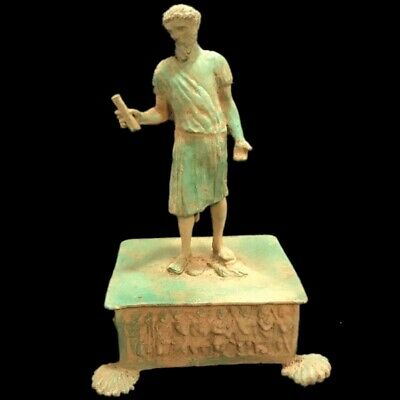 Roman Ancient Bronze Statue- 200-400 Ad (6)