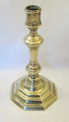 A Good 19th Century French Brass Candlestick - Antique