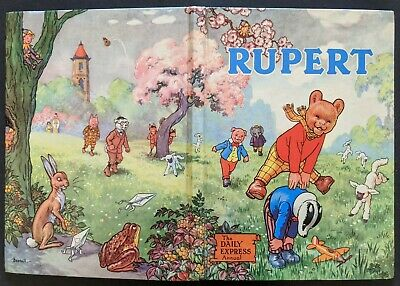 Rupert Annual 1958..Original..not Inscribed Or Clipped...paint Contest Untouched