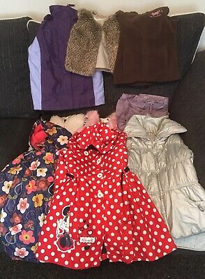 9 x Girls Coat, Gillet, Waterproof Coats Size 5 Years & 5 to 6 Years - Good Cond