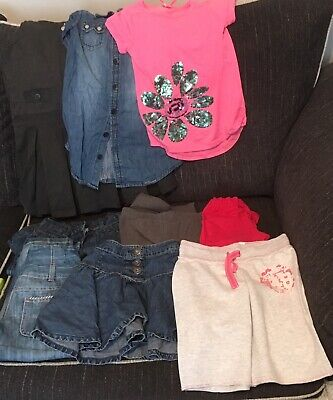 23 Items Girls Clothes Bundle Age 6 Jeans Tops Dresses Shorts & Skirts - VGC