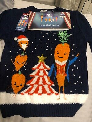 Aldi 2019 Kevin The Carrot Kids Christmas Jumper. Age 9-10.