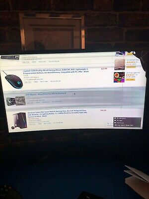 """Samsung HD 24"""""""" Curved LED Monitor Cracked Screen"""
