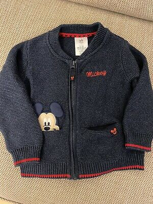 Disney Store Baby Boy's Mickey Mouse Cardigan 12-18 months