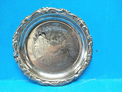 """Vintage EP on Steel Silver-Plated 4 1/8"""" Coaster, Ashtray, Change/Key Dish(Italy"""