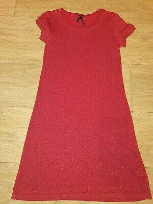 NEXT Girls Red Sparkly Dress Age 9 - Christmas / New Year / Party