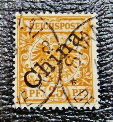 nystamps German Offices Abroad China Stamp # 5 Used $35 Signed