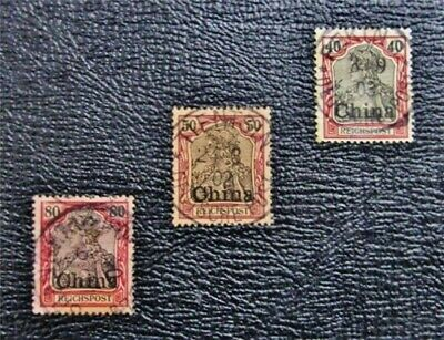 nystamps German Offices Abroad China Stamp # 30 - 32 Used $33