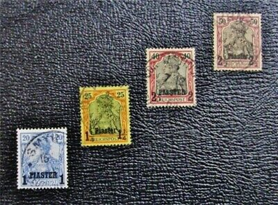 nystamps German Offices Abroad Turkish Empire Stamp # 16 // 27 Used $35