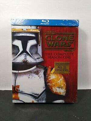 Star Wars: The Clone Wars - The Complete Season One (Blu-ray Disc, 2011,...
